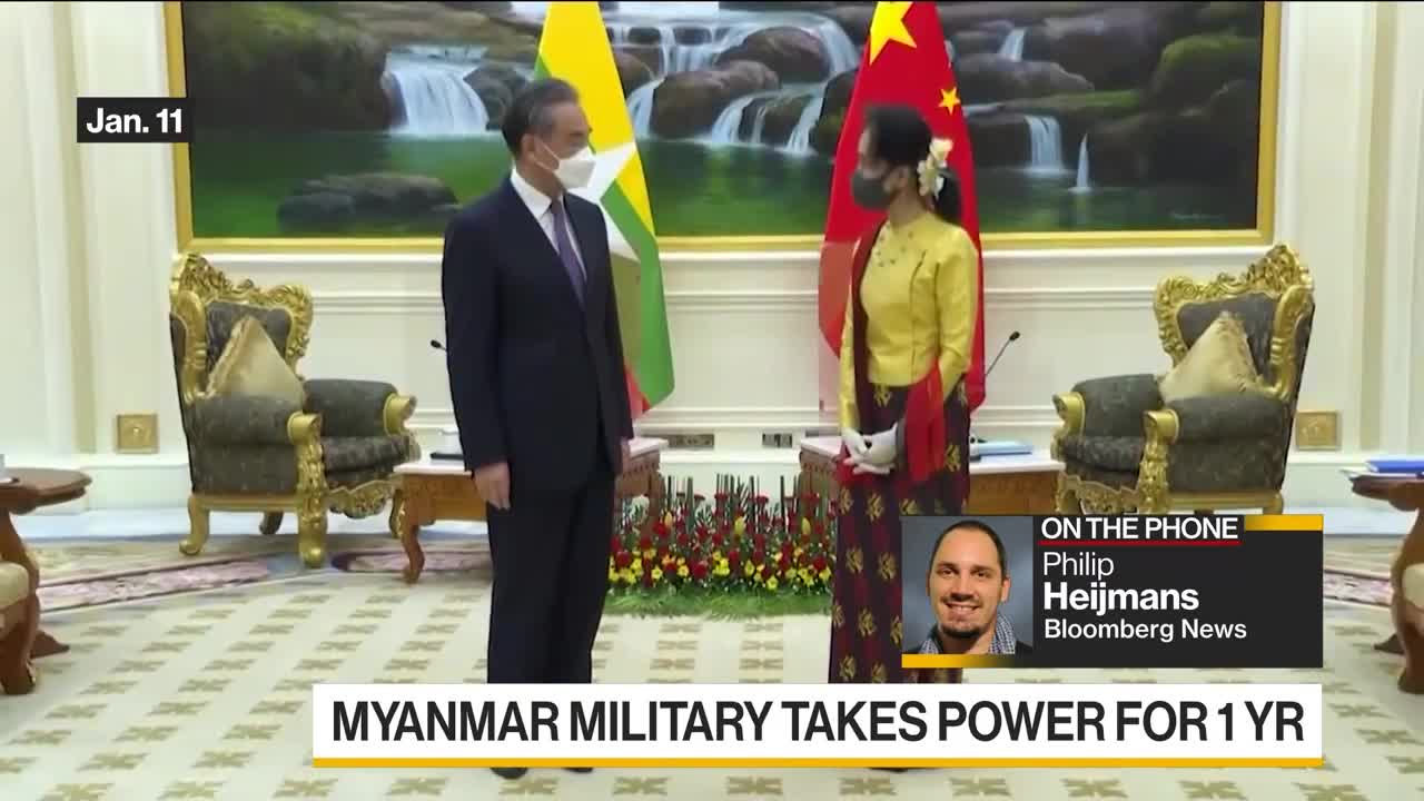 Myanmar Military Takes Power for One Year, Suu Kyi Detained